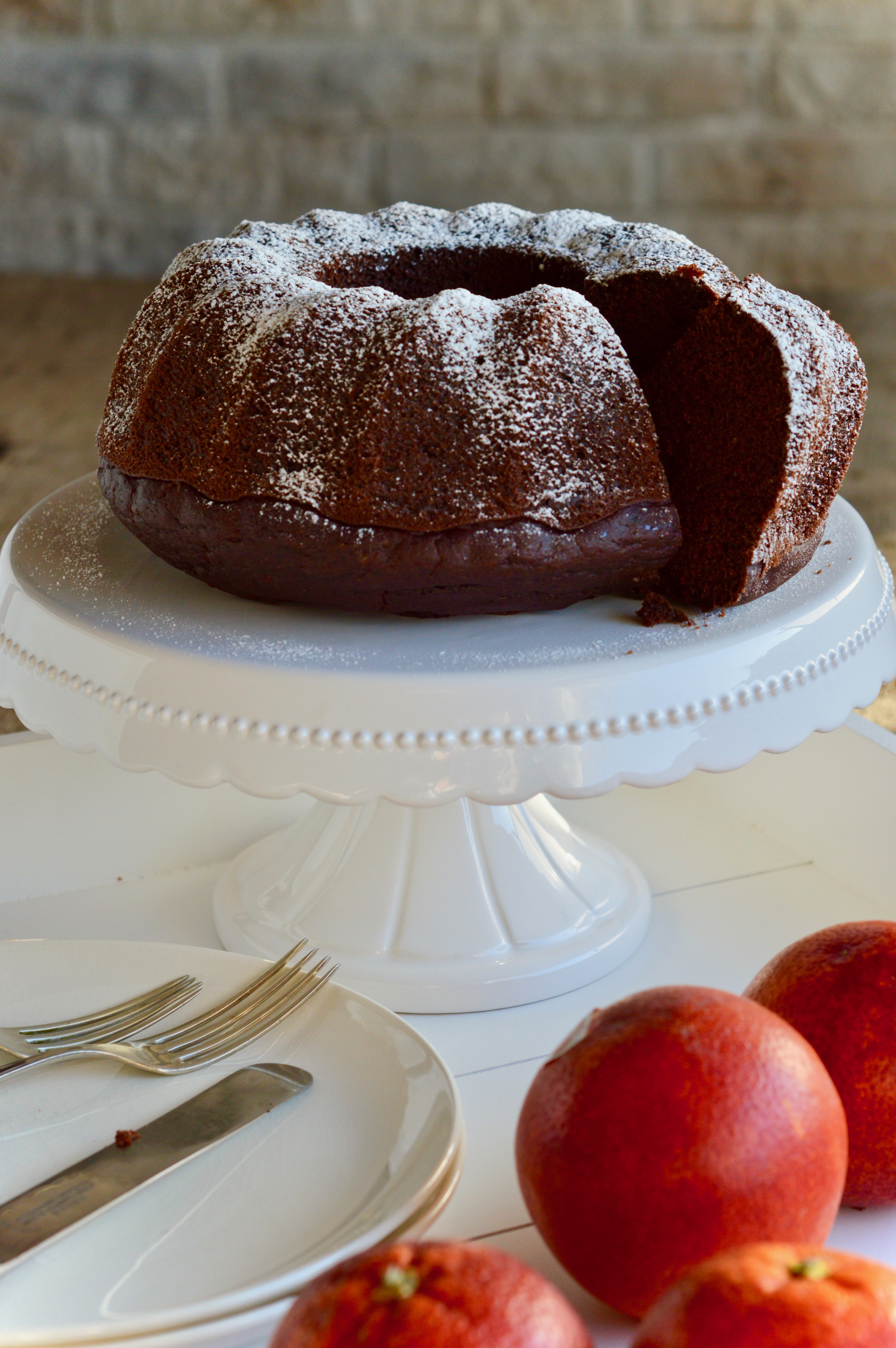 BUNDT CAKE ALL'ACQUA CACAO E ARANCIA